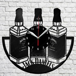 Jack Daniels Whiskey Vinyl Record Wall Clock Home Fan Art Decor 12'' 30 cm 7116