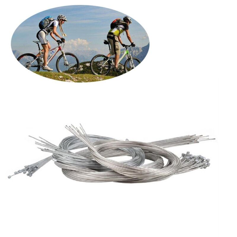 HB 10Pcs 1.75m Road Bike Gear Bicycle Brake Line Shifter Core Inner Cable Wire