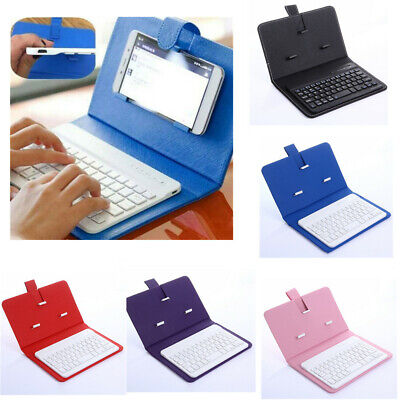 Wireless Bluetooth Keyboard Case Leather Stand Cover for iPhone / Android Phones