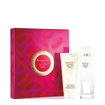 Elizabeth Arden White Tea Gift Set 3 3Oz Edt Spray   3 3Oz Body Cream New In Box