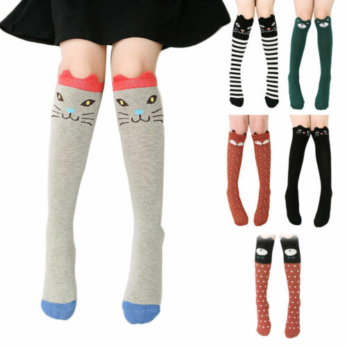 Baby Kids Toddlers Girls Knee High Socks Tights Leg Warmer Stockings Age 3-12 vi