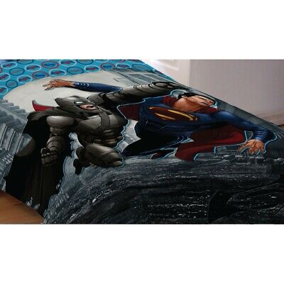 Superman Full Comforter (BATMAN VS SUPERMAN TWIN-FULL COMFORTER - DC Comics World Finest Heroes Bedding )