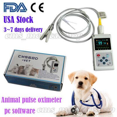 Fda Vet Hand-held Pulse Oximeter Spo2 Monitorveterinary Usepc Softwarebattery