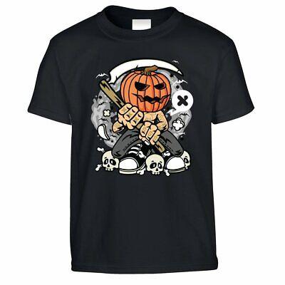 Halloween Costume Ideas Boys (Halloween Kid's T Shirt Costume Grim Reaper pumpkin Scary Monster Gift)