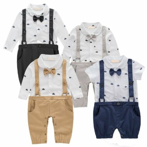 bb0a26d0cd1 Baby Toddler Boy Wedding Christening Tuxedo Formal Suits Outfit Clothes  NEWBORN
