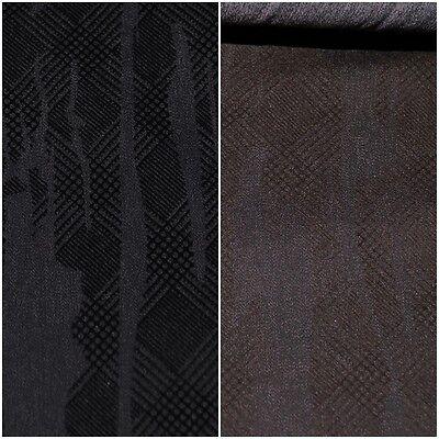 Stretch Jeans Stoff Denim einfarbig gemustert: SCHWARZ u. DUNKELBRAUN #1718 (Braune Denim-stoff)
