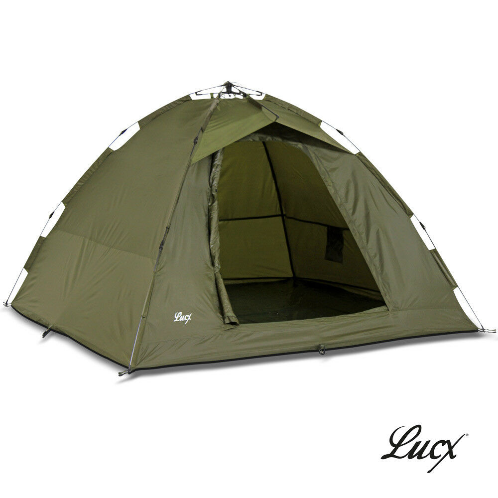 Lucx® Ruck Zuck Zelt Bivvy Karpfenzelt Angelzelt 2 Mann Campingzelt Anglerzelt