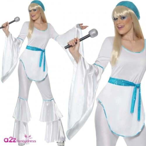 Ladies 80s Super Trooper 70s Poncho Cape Disco Costume Party 1980s Fancy Dress