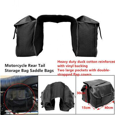 Fashion-strapped Flap Motorcycle Rear Tail Storage Bag Saddle covid 19 (Fashions Correct Shadow coronavirus)