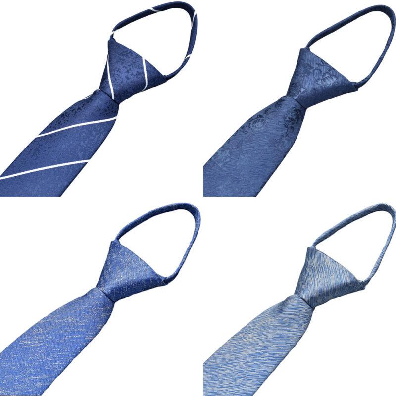 Men's Formal 6cm Neck Ties Business Zipper Necktie Party Wedding High Grade Tie