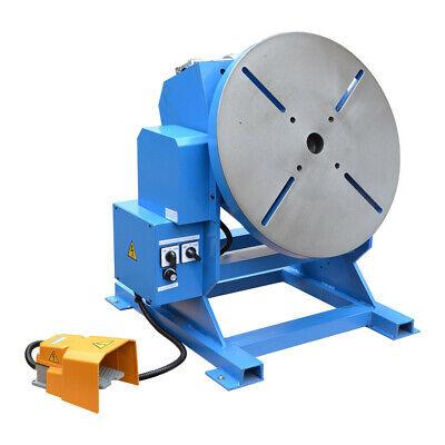 550-1100lbs Welding Positioner Turn Rotary Table Tilt 0-45-90 Degree 110v