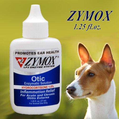 Zy-Mox Pet King Brand Otic Ear Treatment with Hydrocortisone, 1.25oz Band New
