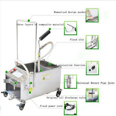 40l 110v Fryer Oil Filter Machine Commercial Oil Filtration System