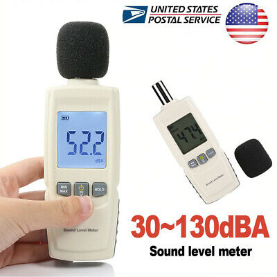 Digital Sound Pressure Level Decibel Noise Meter Tester Measurement 30130db Lcd