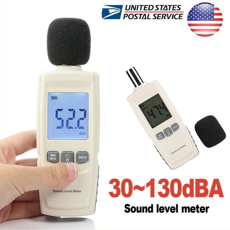 Digital Sound Pressure Level Decibel Noise Meter Tester Measurement 30~130dB LCD
