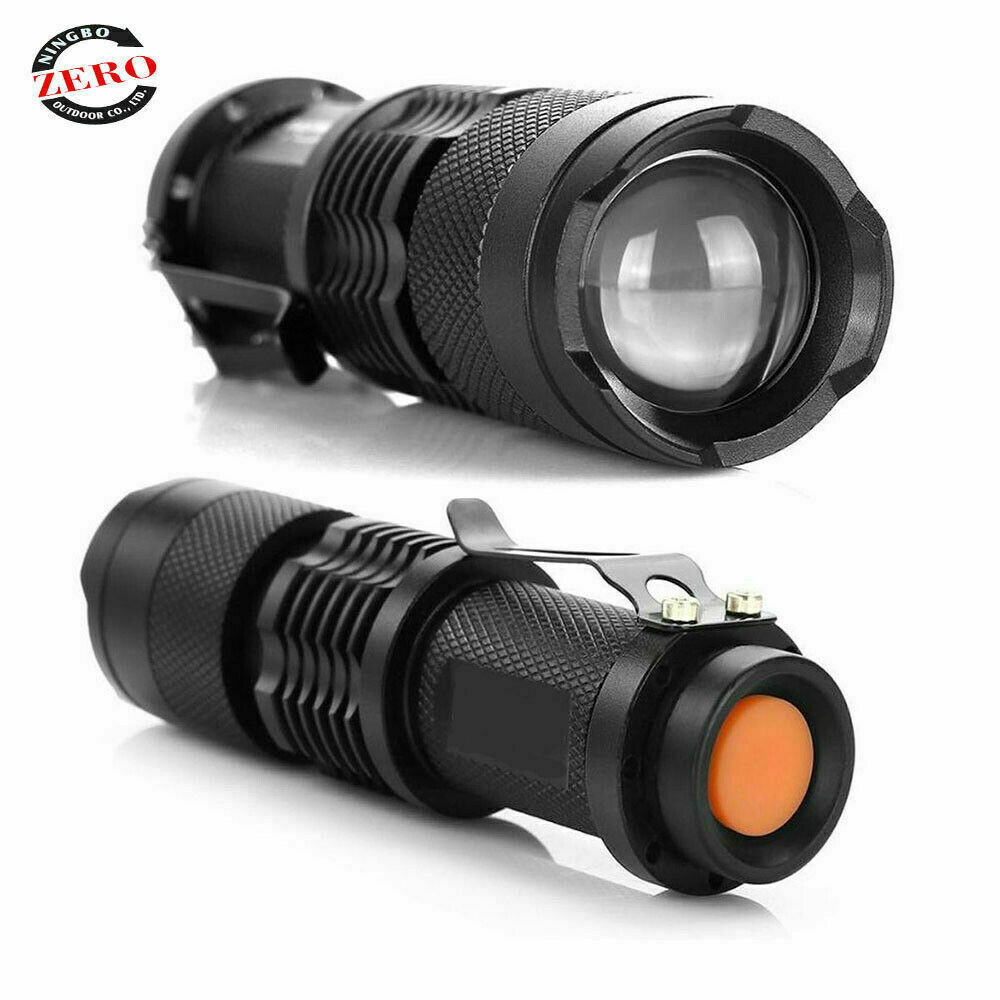 Led Tactical Flashlight Military Grade Torch Small Super Bright Handheld Light Camping & Hiking