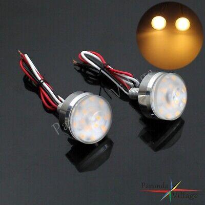 2 X Motorcycle Turn Signal LED Light Indicator Blinker Handle Bar End Handlebar