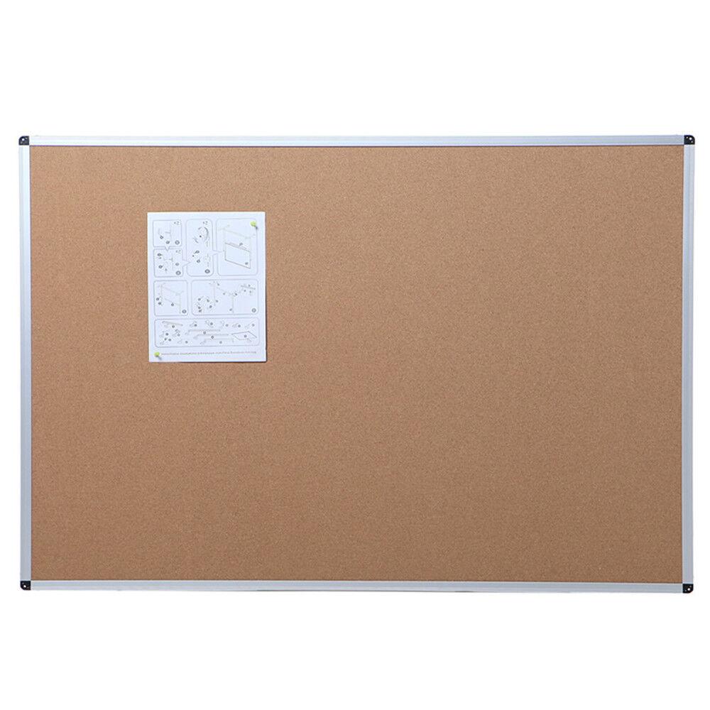 VIZ-PRO Cork Notice Board Memo Board Message Board Aluminium