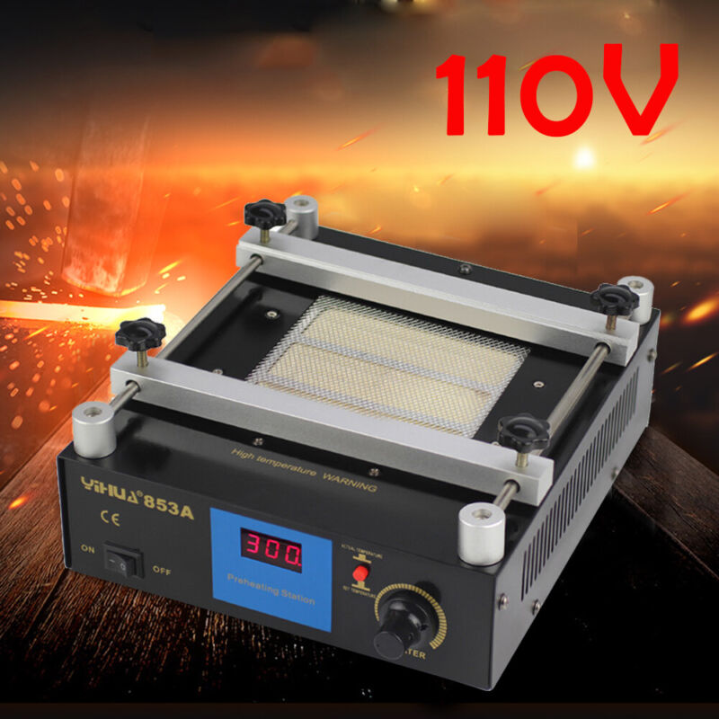 YIHUA 853A SMD Soldering Station Hot Plate Preheat Infrared Rework Station 600W