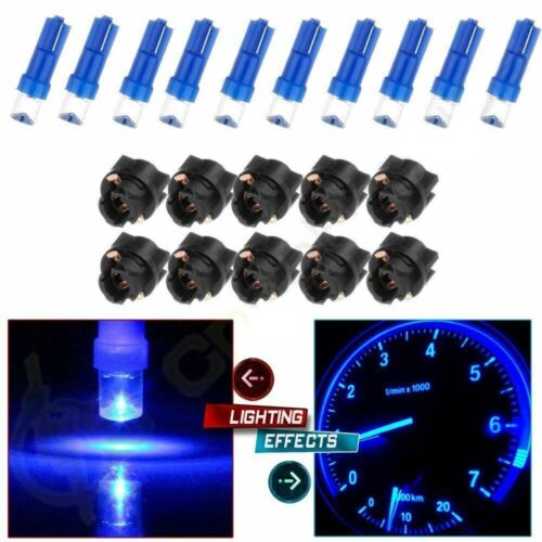 10 x T5 74 1-led blue or white DASHBOARD LED CAR LIGHT Choose Colors 10x Sockets Car & Truck Parts