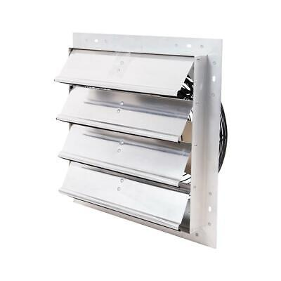 Hessaire Exhaust Fan Power Shutter Mounted Variable Speed 16 In Cut-out Diameter