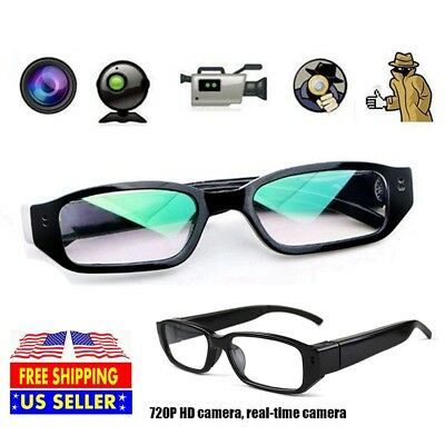 720P Hd Digital Video Spy Camera Glasses Audio Recording Dvr Eyewear Camcorder