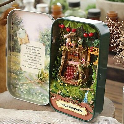 DIY Miniature 3D Doll House Dollhouse Kit for Box Theatre Trilogy Green Forest