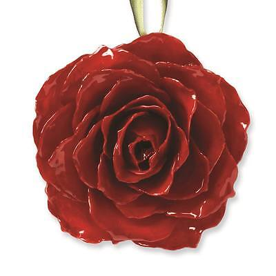 Lacquer Dipped Red Rose - Flowers & Leaves Lacquer Dipped Red Decorative Rose