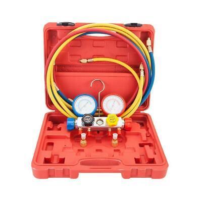 Manifold Gauge Hose Air Conditioner Refrigerant Maintenance R410a R22 With Case