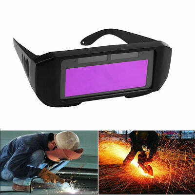 Solar Powered Auto Darkening Welding Helmet Eyes Welder Glasses