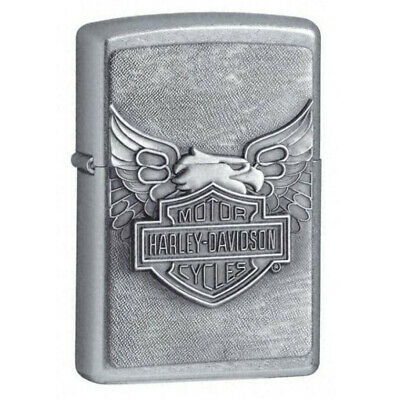 Zippo Windproof Lighter Harley Davidson Street Chrome Eagle Emblem (20230-HD)