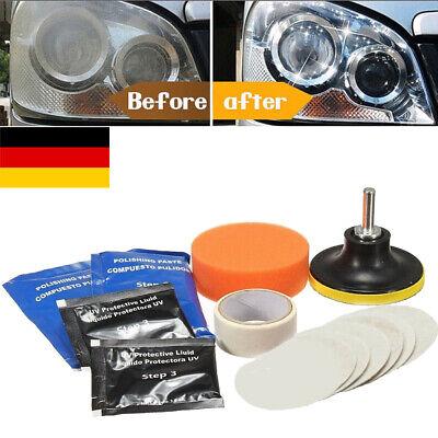 Auto KFZ Linsen Scheinwerfer Aufbereitung set Reparatur Politur Werkzeug DE DHL