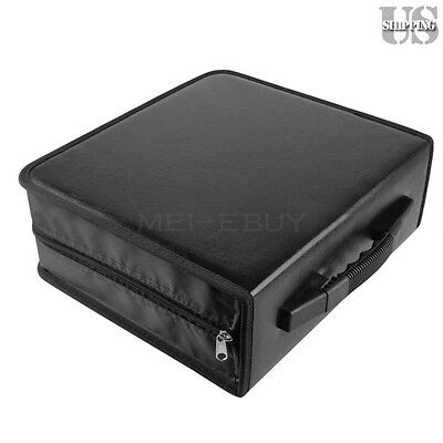 Portable 400 Disc CD DVD Storage Bag PU Leather Wallet Holder Case Box Organizer