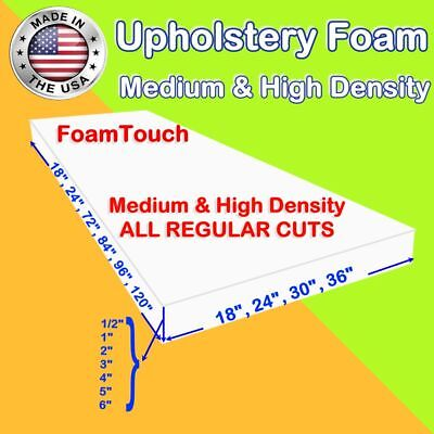 Upholstery Foam Seat Cushion Replacement Sheets variety Regular Cut by FoamTouch