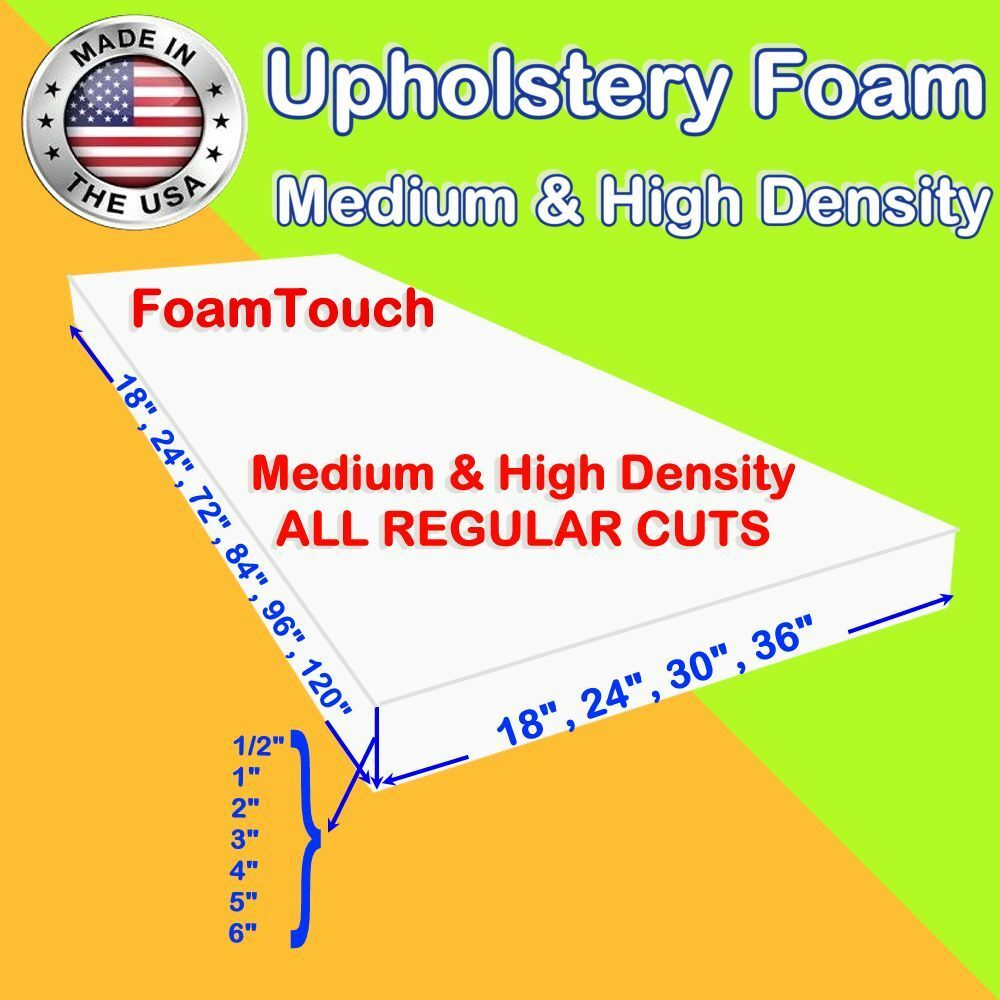 Upholstery Foam Seat Cushion Replacement Sheets variety Regu