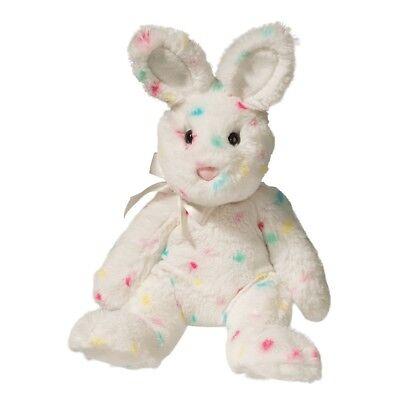 "Confetti Plush Stuffed Bunny Rabbit 10"" White Douglas Easter confetti rainbow - Stuffed Easter Bunny"