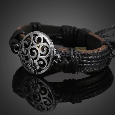 Flower String Bracelet Jewelry - Fashion Girls Craved Flower Braid Cord String Bracelet Wrist Band Bangle Jewelry