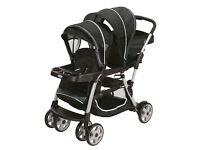 Graco Double Pram Almost New Rain Cover Included
