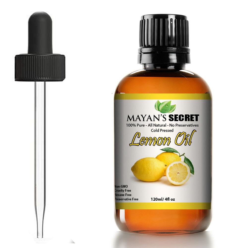 100% Pure Virgin Lemon Essential Oil 4 oz (118 ml),  FRESH, Made In USA Aromatherapy