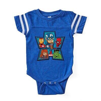 CafePress Marvel Avengers Portraits Baby Football Bodysuit (324154870) - Baby Avengers