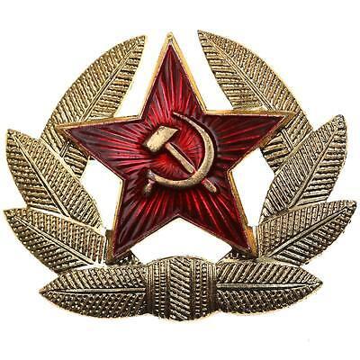 CCCP STERN MÜTZENABZEICHEN RUSSISCHE ARMEE KOKARDE UDSSR USCHANKA LENIN ARMY
