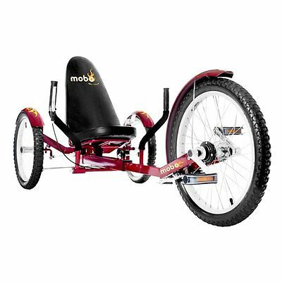 Mobo Triton Pro Recumbent Trike. Adult Beach Cruiser Tricycl