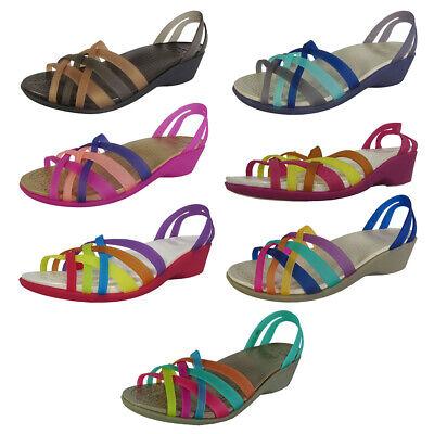 Crocs Womens Huarache Mini Wedge Sandal Shoes