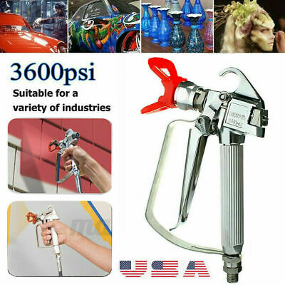 3600 Psi Airless Paint Sprayer Paint Spray Gun High Pressure With 517 Tip Alloy