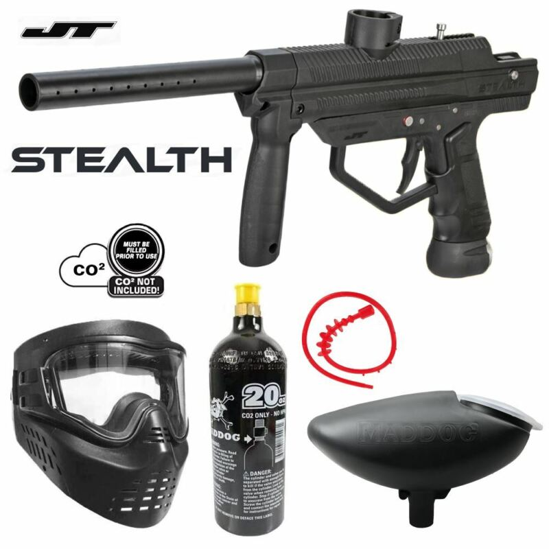 Maddog JT Stealth Semi-Automatic Bronze CO2 Paintball Gun Starter Package