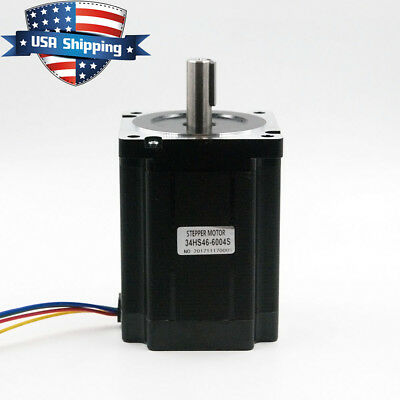 Nema 34 86118mm Stepper Motor 8.5nm 1200oz.in For Cnc Mill Lathe Router