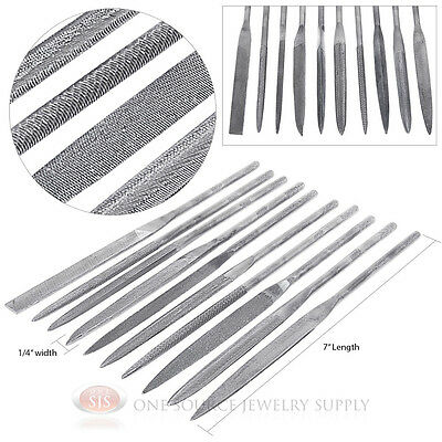10 Needle Files Assorted Shapes Sizes Metal Smithing Course Cut Jewelry Tools