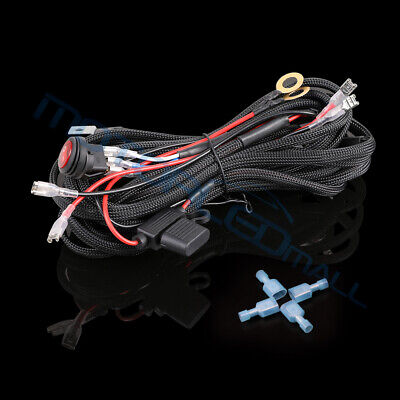 12V 40A Remote Control Wiring Harness Kit Switch Relay For Dual LED Fog