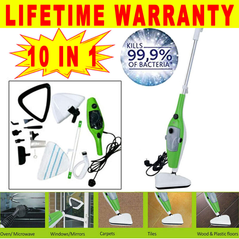 Steam Mop Cleaner 10-in-1 /w Convenient Detachable Handheld Unit,Multi Purpose