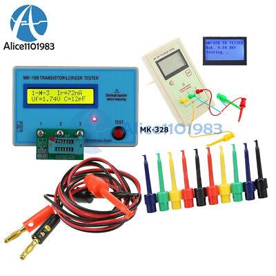 Mk-168 Mk-328 Tr Lcd Transistor Tester Lcr Esr Diode Meter Test Hook Lead Cable